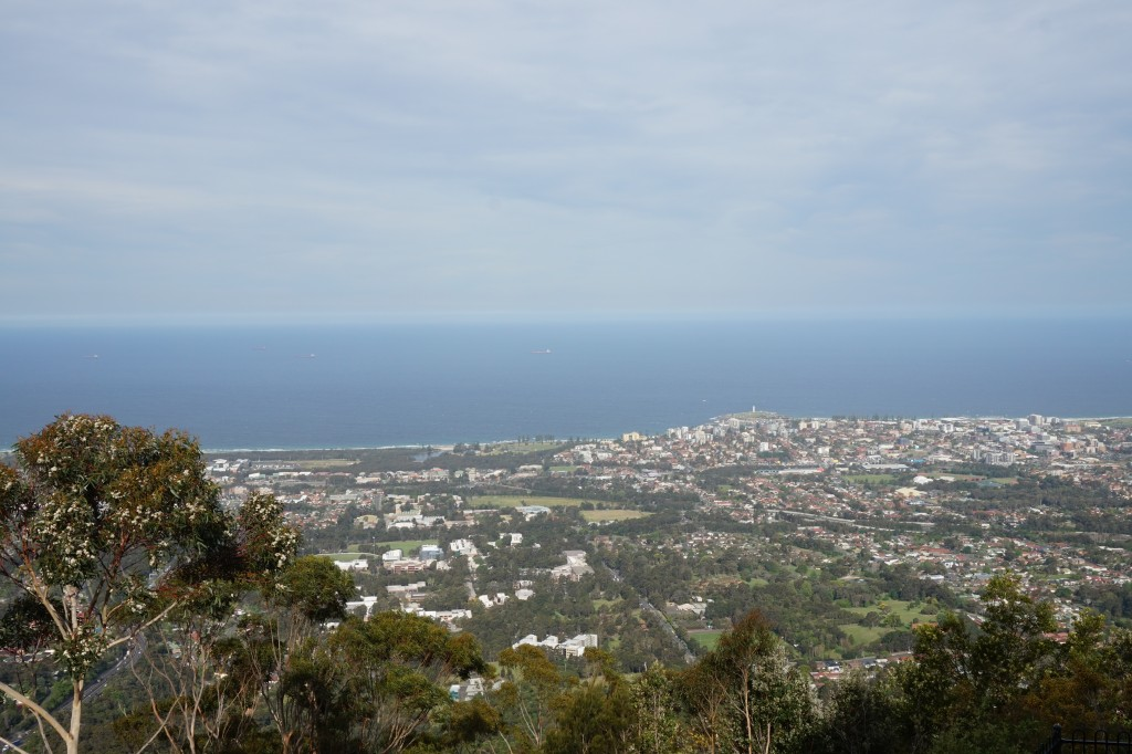 View of Wollongong from Mt Keira lookout