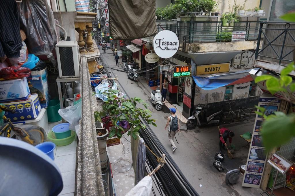 The narrow streets of Hanoi