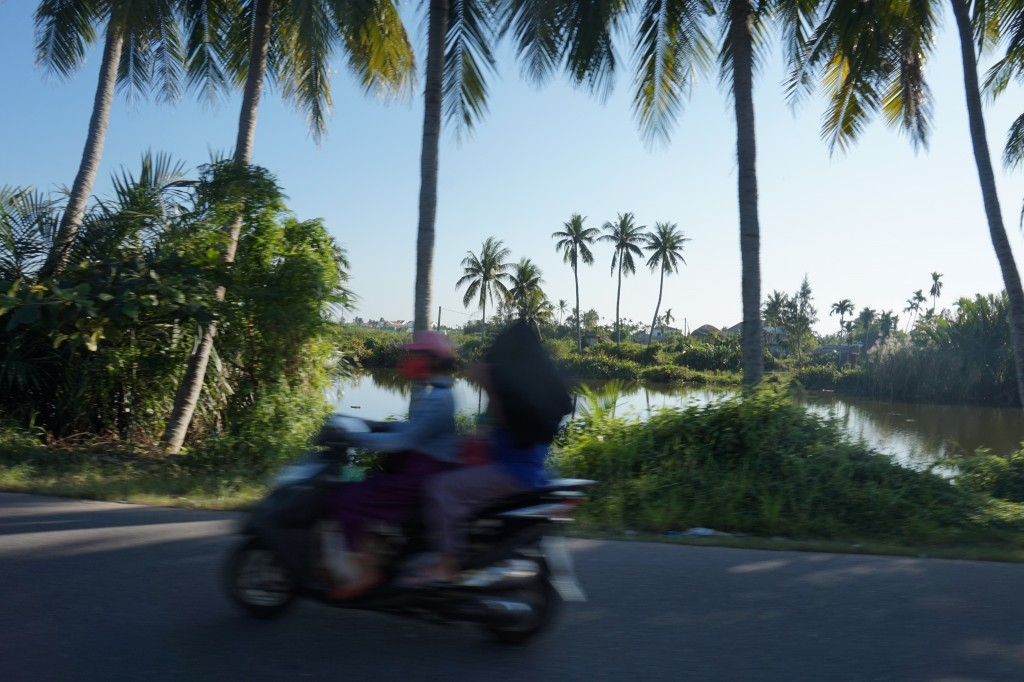 Motorbiking on the outskirts of Hoi An