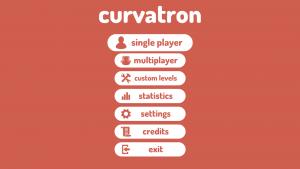 Curvatron's Main Menu
