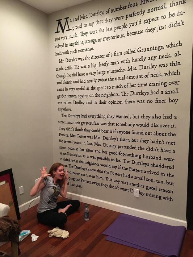 Harry Potter Wall writing