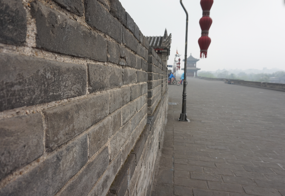 The 14km long city wall in Xi'An, China
