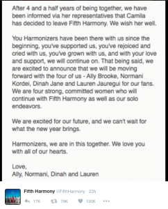 Screenshot from Fifth Harmony's Twitter. Source.