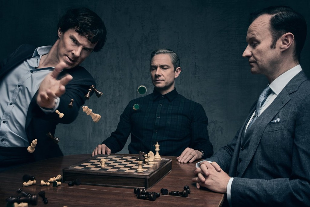 Sherlock, Watson and Mycroft Source