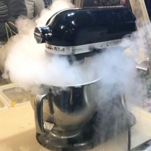Hemp milk ice-cream in the making