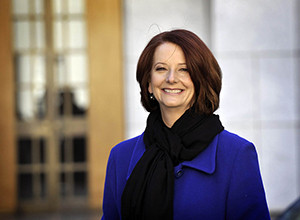 Prime Minister Hon. Julia Gillard with Damian Hale MP. Parliament House. Canberra 28 June 2010. File No 100254.