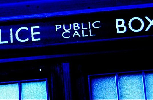 Close up of the Tardis