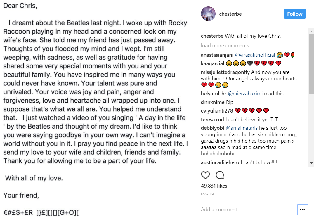 Chester's letter to Chris. Source.