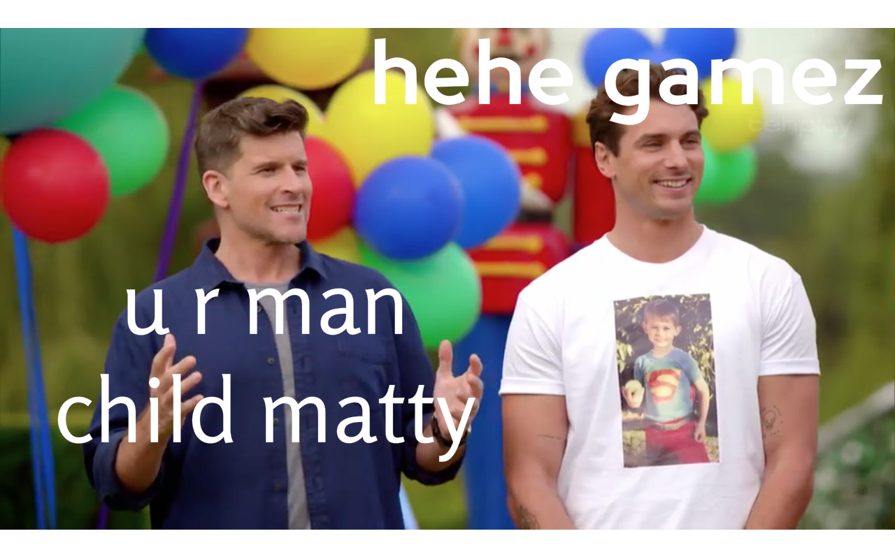 Osher: Why are you like this. Matty: I like games hehe. Source.
