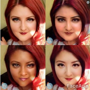 FaceApp allowed a user to see themselves with different cultural faces.