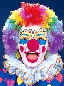 Clowns are more generally seen as scary nowadays, unlike the 'happy professional' above. (Image: Pinterest)