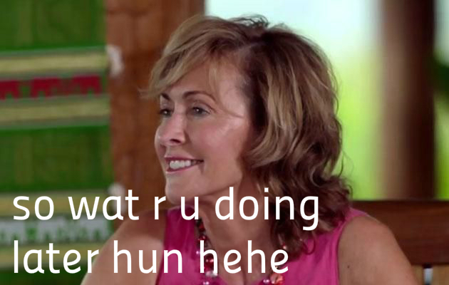 Matty's mum REALLY likes Elise. Source.