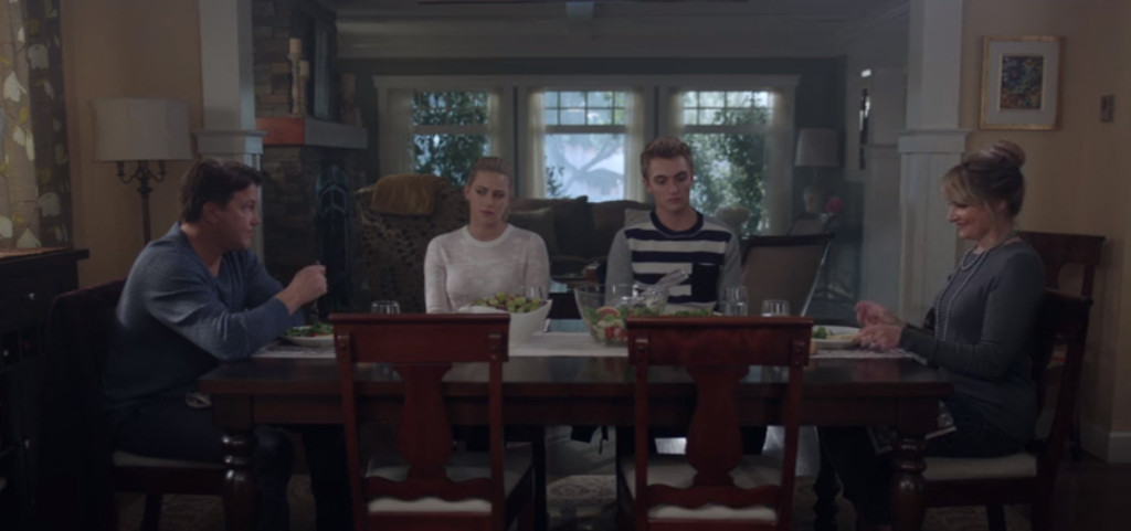 For dinner tonight, we're having Awkward Silence - The Cooper Family special...