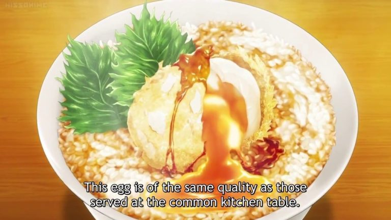 Chicken egg tempura from anima Food wars