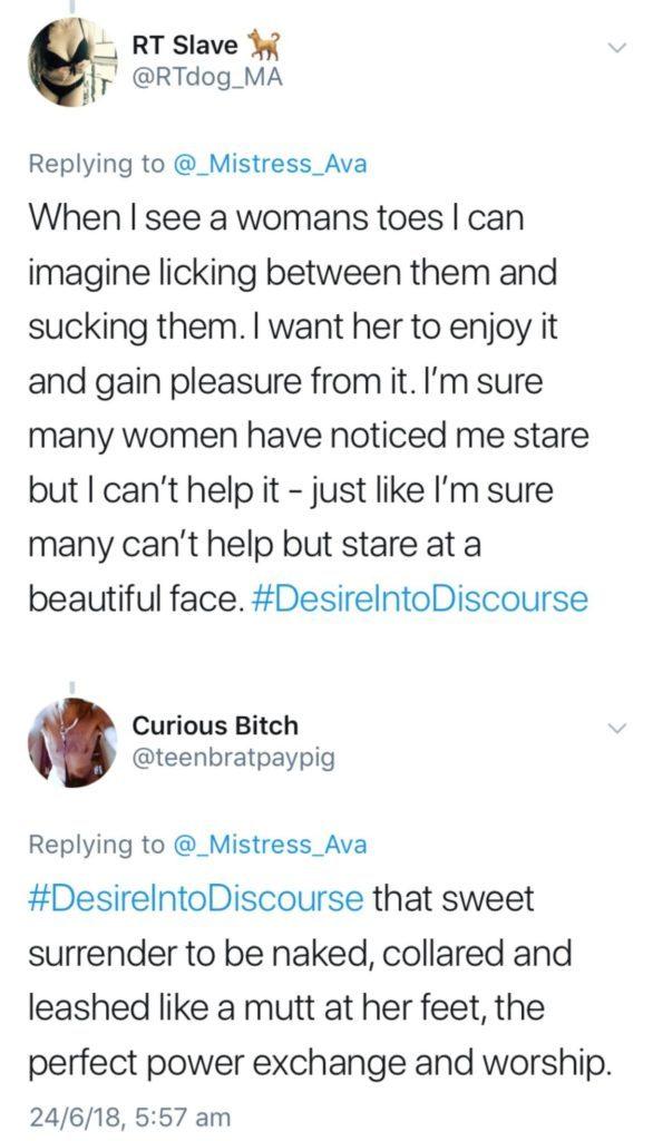 Twitter talks Foot fetishes