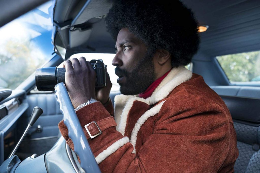 John David Washington in BlacKkKlansman.