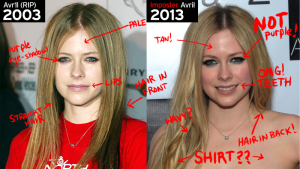 Avril Lavigne facial analysis