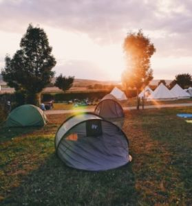 falls festival camping in tent