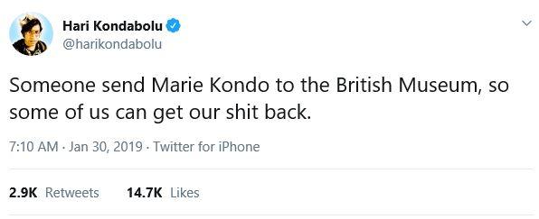 Marie Kondo back