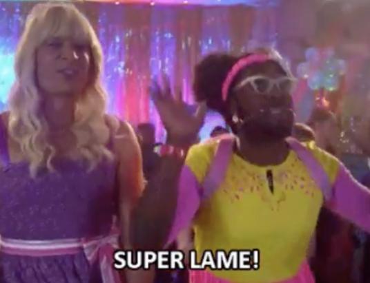 hashtags are #SuperLame