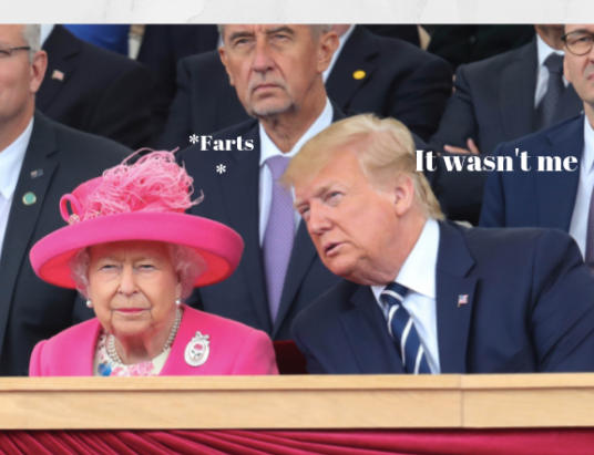 The Queen and Donald Trump meeting
