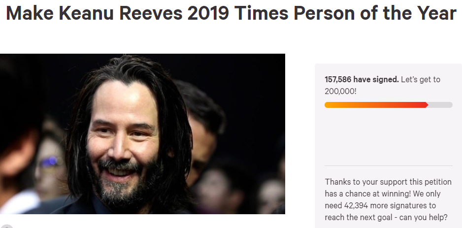 Keanu Reeves times person of the year