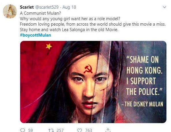 Mulan Hong Kong police brutality