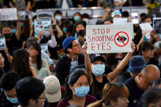 Hong Kong police brutality protestors