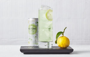 the koyomi highball in front of a white background, one of the cocktails now available at bws