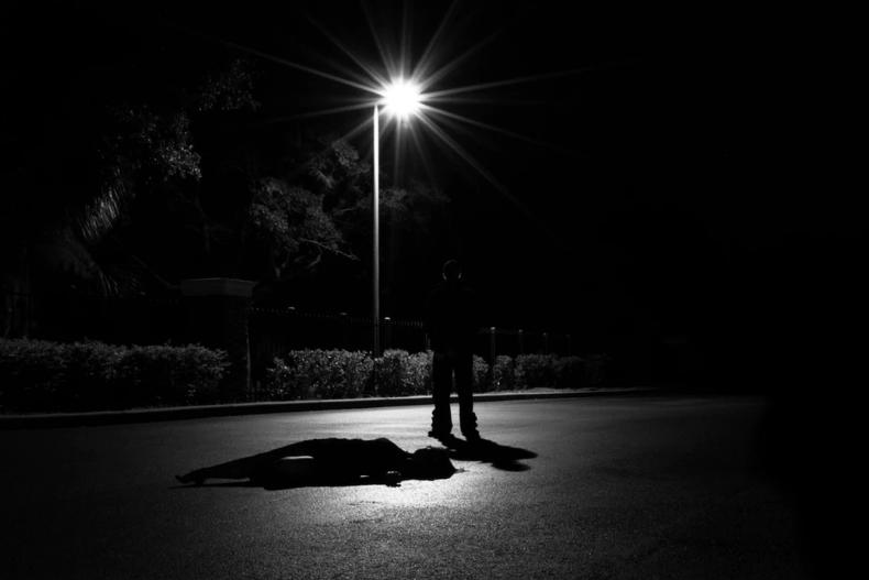 Dark night creepy