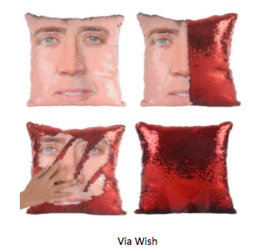 Secret Santa gift Lush Nick Cage Cushions