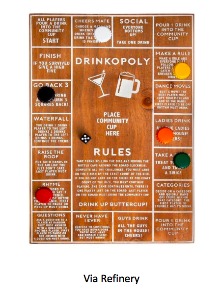 Drinkopoly Secret Santa gift