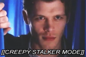 Klaus arm TVD being a creepy stalker