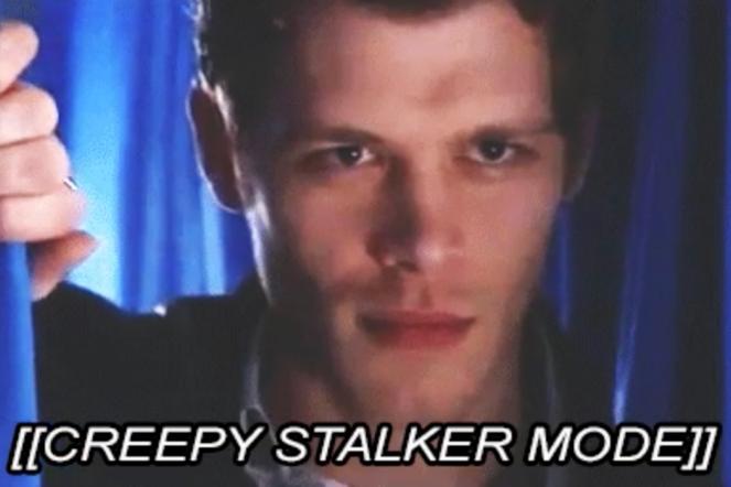 Klaus arm TVD being a creepy stalker