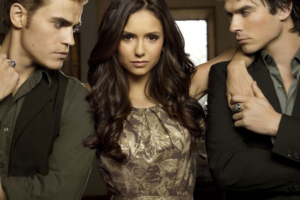 Stalkers Damon and Stefan Salvatore with their target Elena
