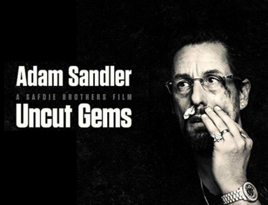uncut gems poster starring adam sandler