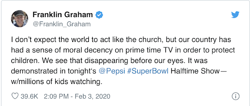 Super Bowl tweet by @franklin_graham