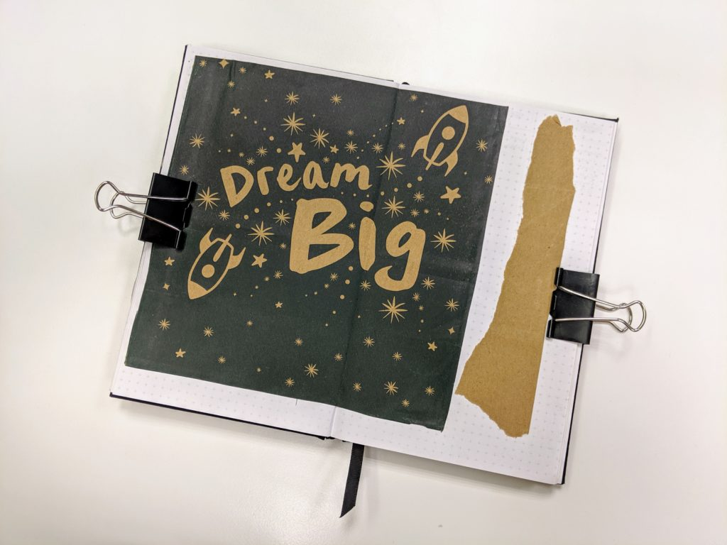 Dream Big uni notebook