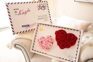 Valentine's Day gift box with my lasting bouquet roses