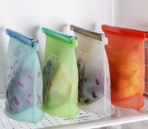 silicone reusable bags for zero-waste food storage