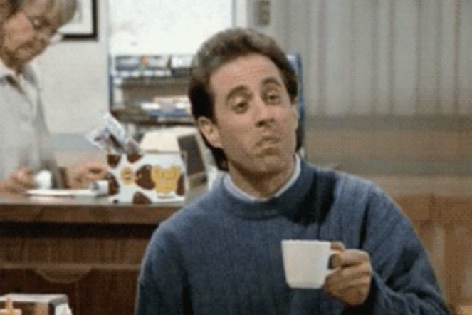 coffee obsessed seinfield