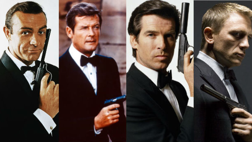Picture of the James Bond throwback movies and characters