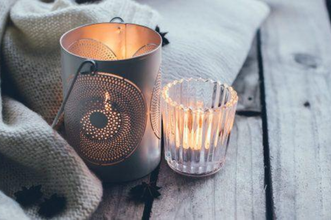 lovely winter candles