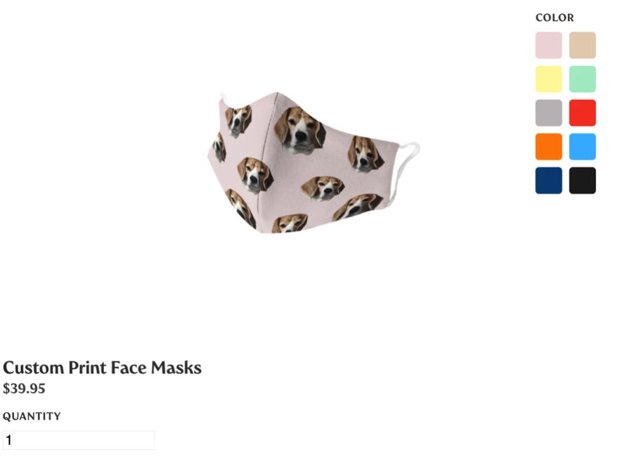 beagle pet face mask