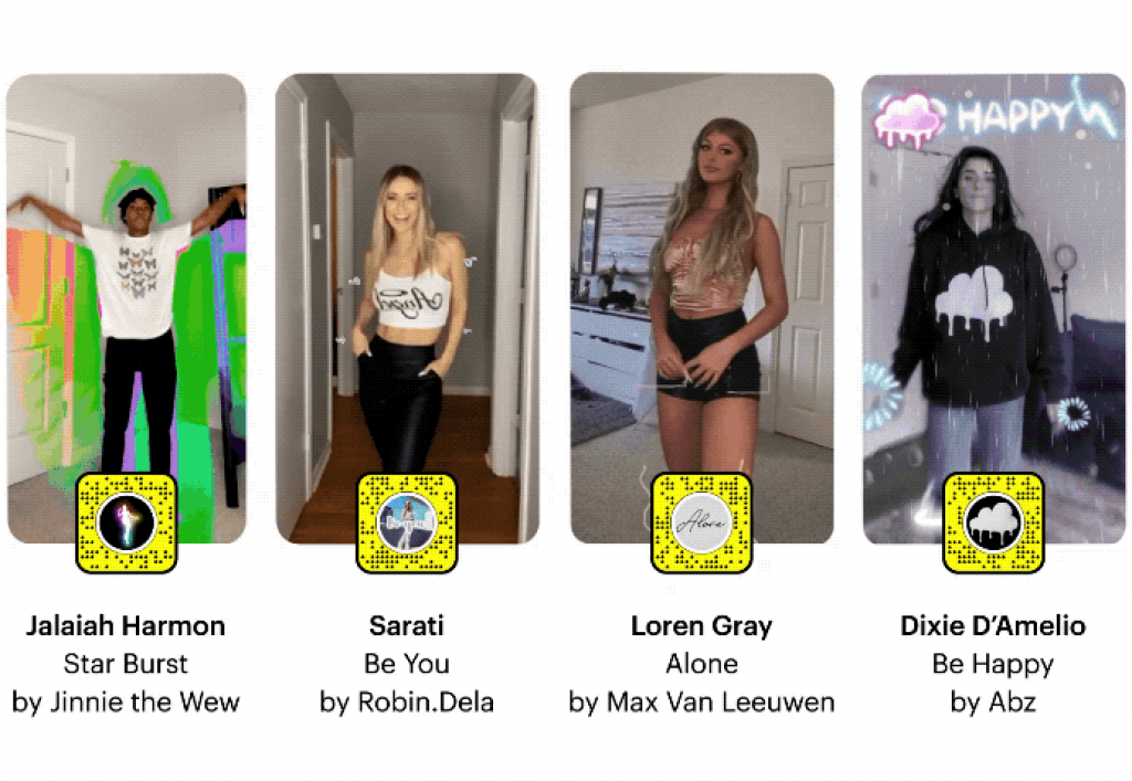 Snapchat filters and AR with snapchat stars