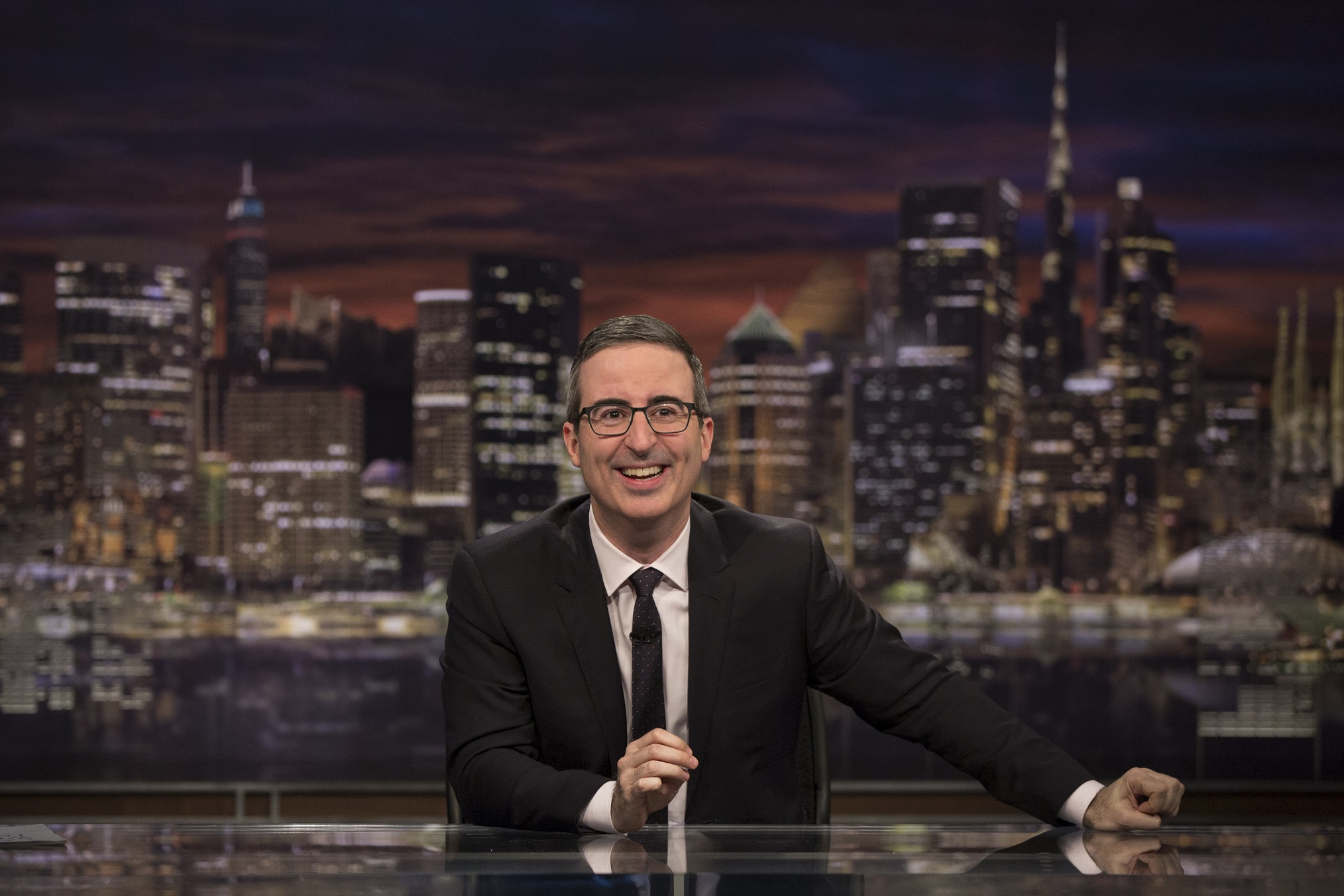 Last Week Tonight image that you can see on Binge