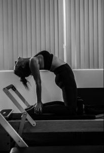 personal trainer amanda jane in another one of her pilates stretch poses
